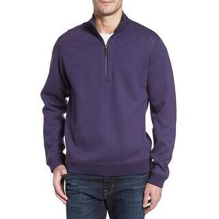 Tommy Bahama NEW Purple Mens Size Medium M Pullover 1/2 Zip Sweater