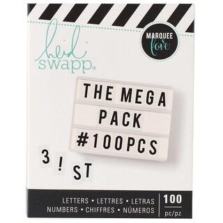 Heidi Swapp Mega Pack Lightbox Inserts 100/Pkg-Alphabet & Numbers/Black