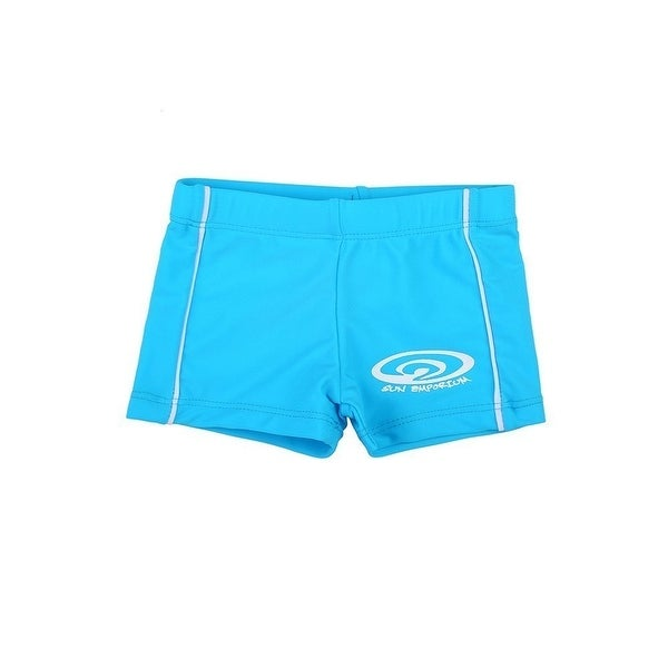 Sun Emporium Baby Boys Blue Logo Front Panel Detail Euroleg Shorts