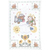 "Stamped White Quilt Crib Top 40""X60""-Heavenly Creatures"