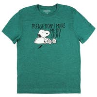 Peanuts Snoopy Please Don't Make Me Do Stuff Graphic T-Shirt