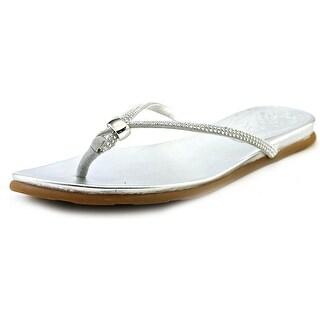 Vince Camuto Elliot Women Open Toe Suede Silver Thong Sandal