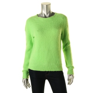 Polo Ralph Lauren Womens Wool Ribbed Trim Pullover Sweater