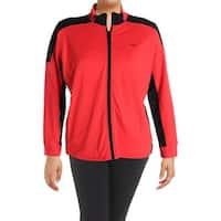 Lauren Ralph Lauren Womens Plus Athletic Jacket Colorblock Zip Front