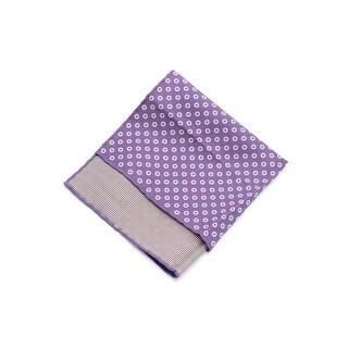 Brunello Cucinelli Men's Purple Printed Silk Blend Pocket Square