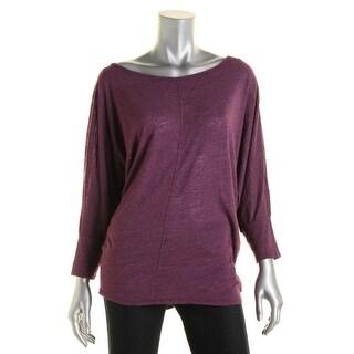 Velvet Womens Slub Dolman Sleeves Pullover Top