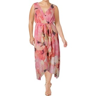 Sangria Womens Plus Maxi Dress Printed Sleeveless