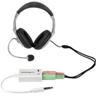 """StarTech MUYHSMFFADW StarTech.com 3.5mm 4 Position to 2x 3 Position 3.5mm Headset Splitter Adapter M/F - White - Mini-phone for"
