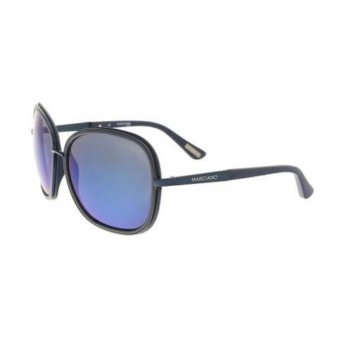 Guess by Marciano GM0734 92X Navy Rectangular Sunglasses - 61-16-135