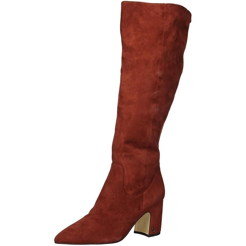 Sam Edelman Womens Hai Knee High Boot Paprika Suede,