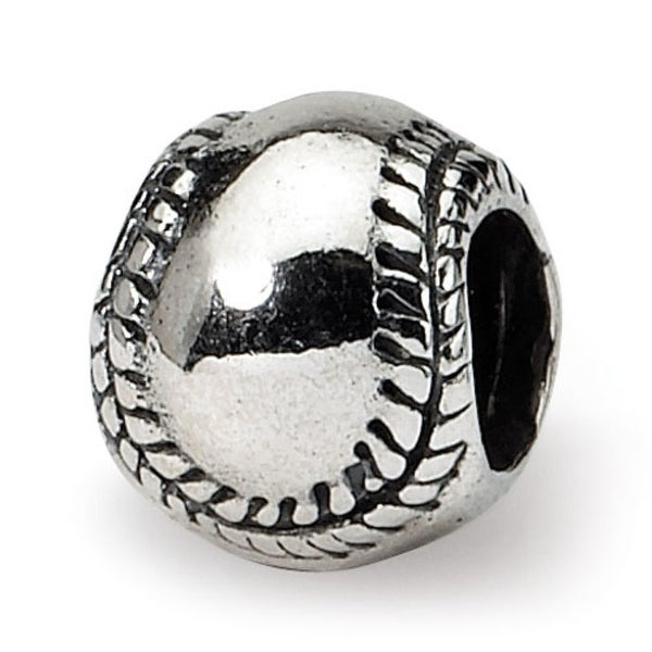 Sterling Silver Reflections Kids Softball Bead (4mm Diameter Hole)