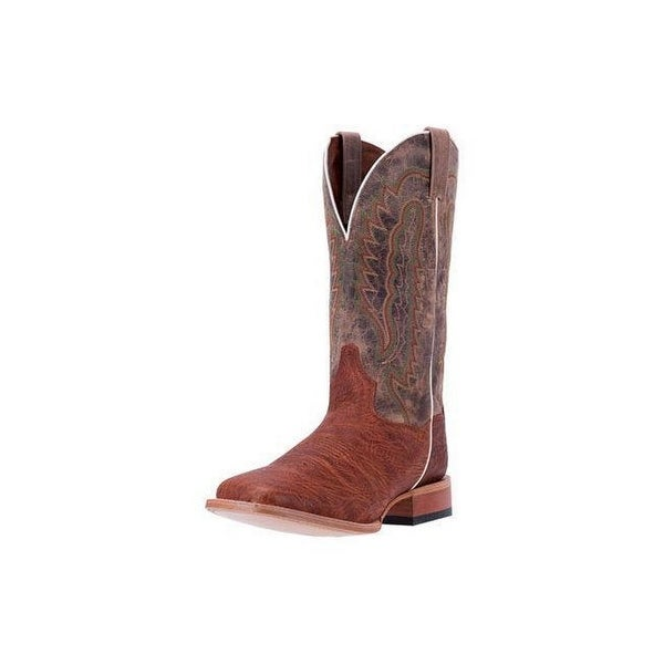 Dan Post Western Boots Mens Bradey Orthotic Leather Cognac Tan