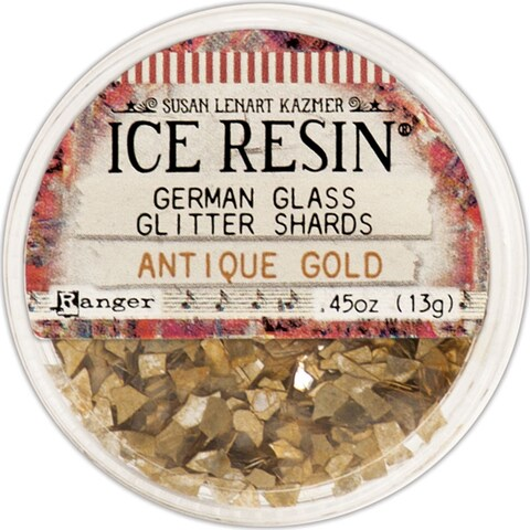 Ice Resin Glass Glitter Shards-Antique Gold