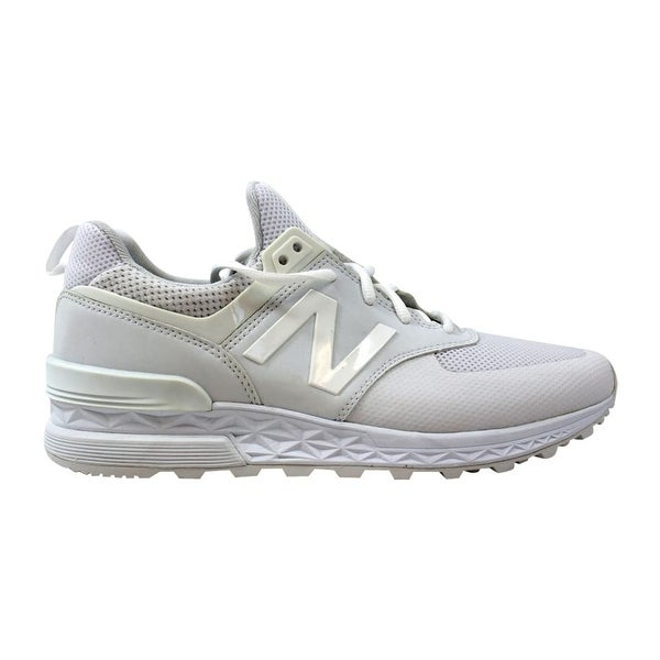 low priced 927c4 9197e Shop New Balance Men's 574 Sport White MS574SWT Size 8 ...