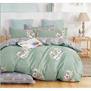 Link to Kaufmann 100% Cotton Lily Reversible Comforter Set Green Similar Items in Comforter Sets