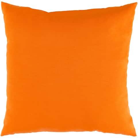 """Miguel Orange Solid Indoor/ Outdoor Throw Pillow (16"""" x 16"""")"""