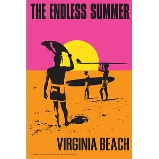 Virginia Beach, Virginia - The Endless Summer - Original Movie Poster (Acrylic Serving Tray)