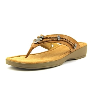 Minnetonka Silverthorne Thong W Open Toe Leather Flip Flop Sandal