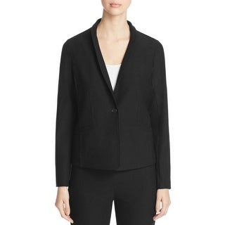 Eileen Fisher Womens One-Button Blazer Crepe Washable - m