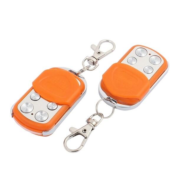 2pcs 100M 4 Key Waterproof Car Anti-theft Alarm Digital Remote Controller Orange