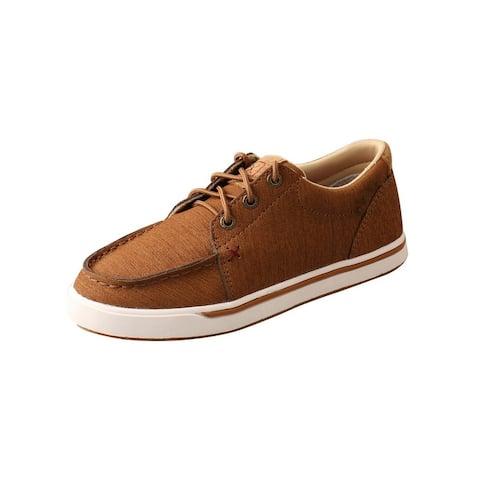 Twisted X Casual Shoes Boys Kicks C Toe Leather Clay
