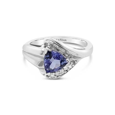 Encore by Le Vian Tanzanite & Diamonds 14K White Gold Ring Size 7