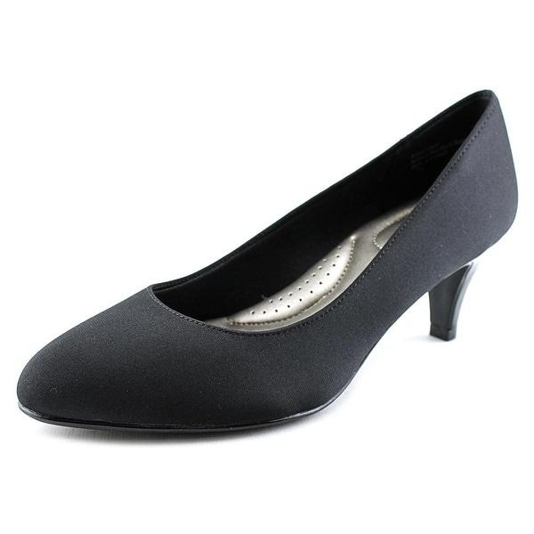 Abella Sahara Women Round Toe Canvas Black Heels