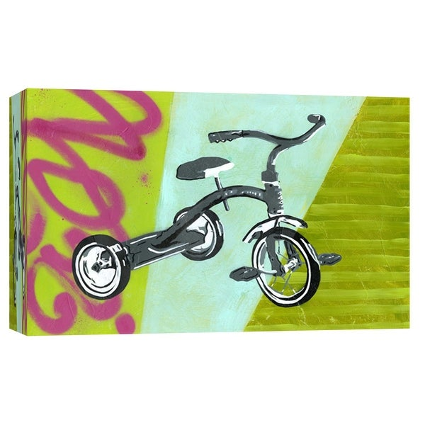 "PTM Images 9-103737 PTM Canvas Collection 8"" x 10"" - ""Tricycle"" Giclee Abstract Art Print on Canvas"