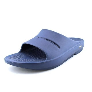 Oofos Ooahh Men Open Toe Synthetic Blue Slides Sandal