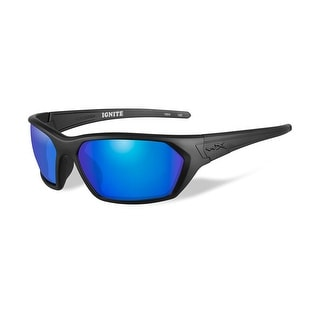 Wiley x ignite polarized blue mirror lens matte black frame
