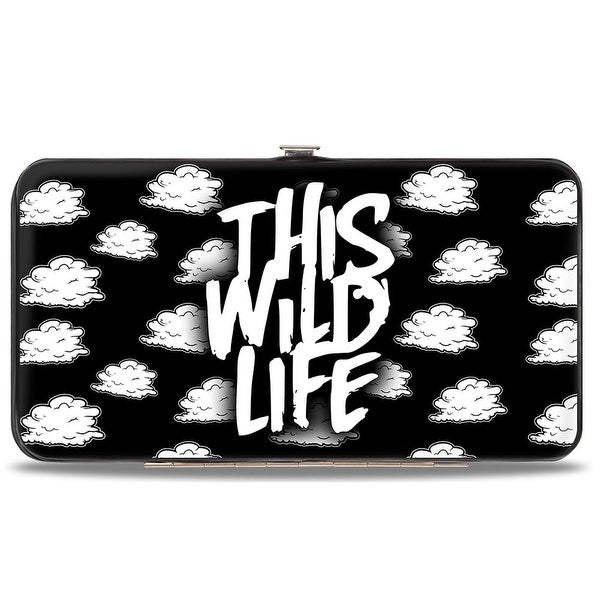 This Wild Life Clouds Black White Hinged Wallet - One Size Fits most