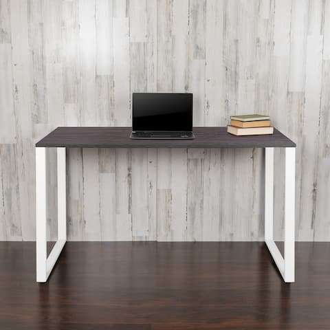 "Commercial Grade Industrial Style Office Desk - 55"" Length"