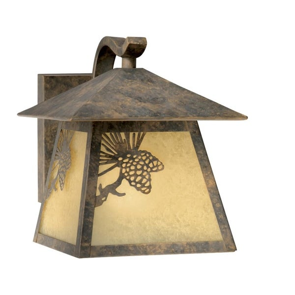 "Vaxcel Lighting OW50573 Whitebark 1-Light Outdoor Wall Sconce - 8"" Wide - olde world patina - n/a"