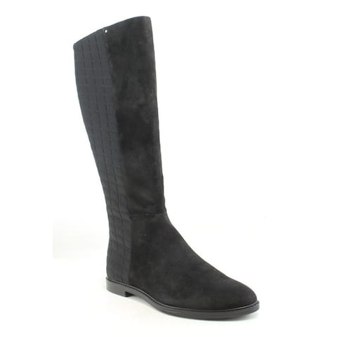 f389bd5c21b Calvin Klein Womens Donnily Black Suede Fashion Boots Size 6.5
