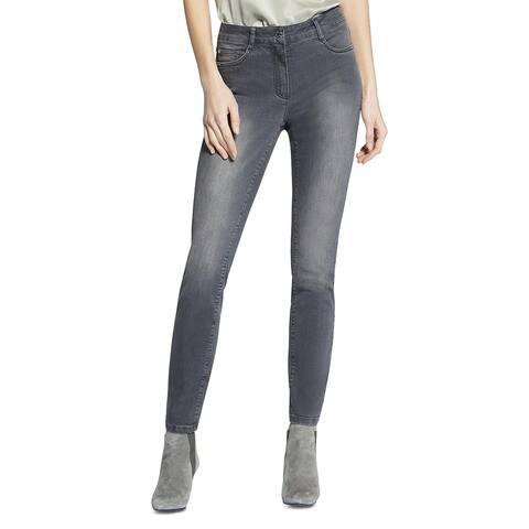 Basler Womens Skinny Jeans Denim Studded - Gray