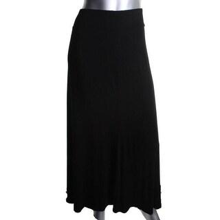 Robert Michaels Womens Jersey A-Line Maxi Skirt - L