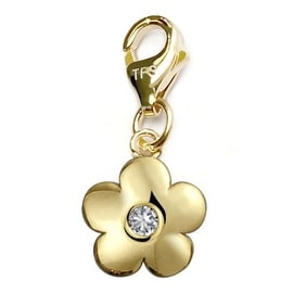 Julieta Jewelry Round Flower Clip-On Charm