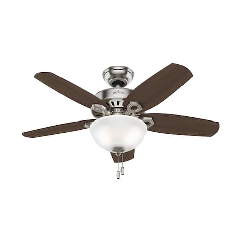 """Hunter 42"""" Builder Ceiling Fan with LED Light Kit and Pull Chain"""