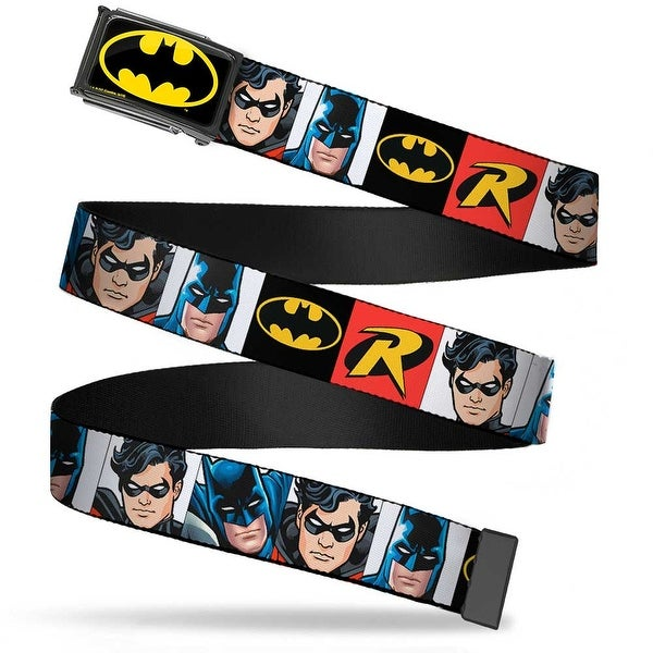 Batman Fcg Black Yellow Chrome Batman & Robin Blocks Black Red Webbing Web Belt