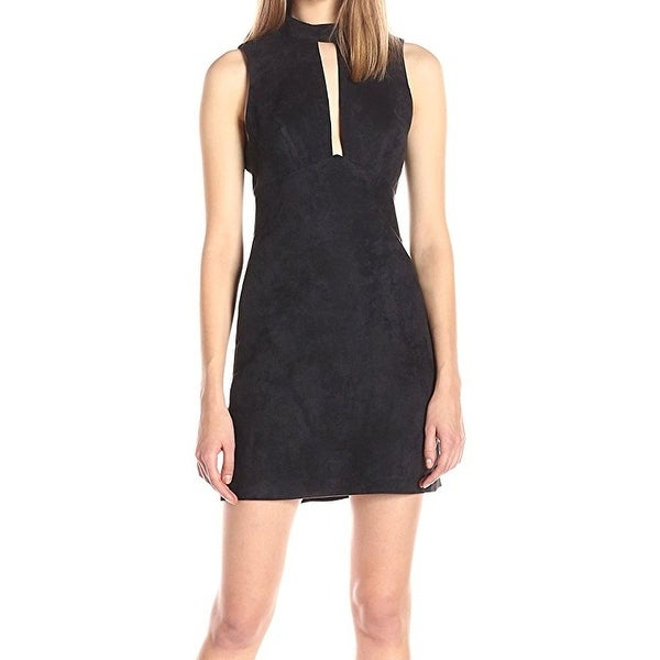 363615d8a6 BCBG Generation NEW Black Womens Size 8 Cutout Faux-Suede Sheath Dress -  Free Shipping On Orders Over  45 - Overstock - 26079481