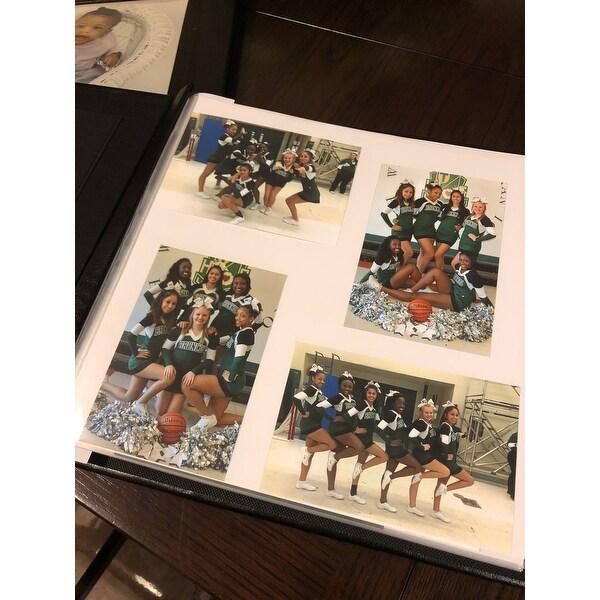 Shop Memory Stor Black Bonded Leather Scrapbook Album Free