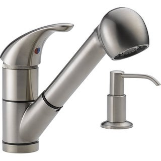 Delta P18550LF-SSSD Single Handle Kitchen Pull-Out Faucet, Stainless