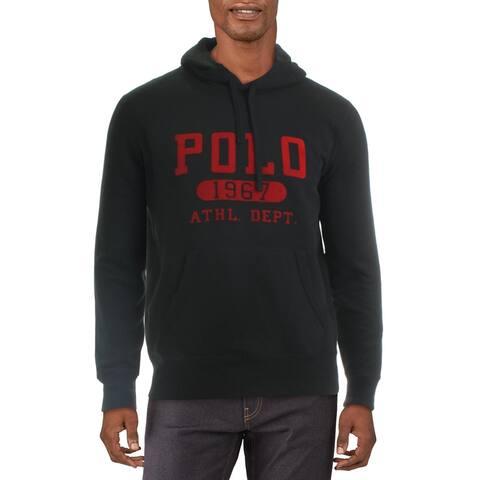 Polo Ralph Lauren Mens Hoodie Vintage Fleece - Black
