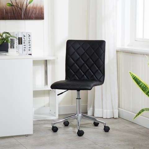 Porthos Home Arlo Armless PU Leather Office Chair