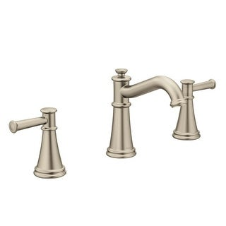Moen T6405 Belfield 1.2 GPM Widespread Bathroom Faucet - Includes Metal Pop-Up Drain Assembly (3 options available)
