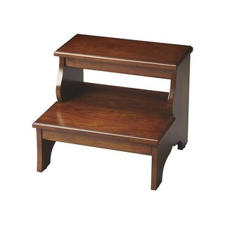 Offex Transitional Step Stool Chestnut Burl - Medium Brown