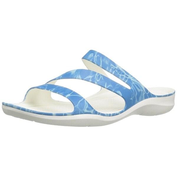 70270aaf5485 Shop Crocs Womens Swiftwater Graphic W Open Toe Casual Slide