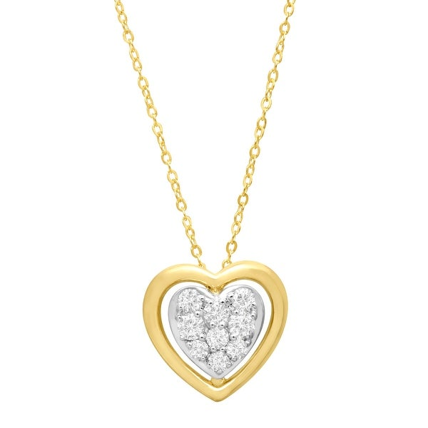 1/4 ct Diamond Heart Pendant in 10K Gold