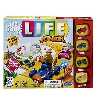 The Game of Life Junior Game|https://ak1.ostkcdn.com/images/products/is/images/direct/2bf97a49352e88647b74997dcf5af0d35b7c7975/The-Game-of-Life-Junior-Game.jpg?impolicy=medium