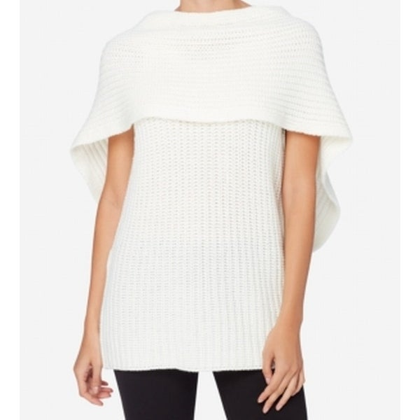 162065cbc80b26 Shop Catherine Malandrino NEW White Ivory Women Size Medium M Capelet  Sweater - Free Shipping On Orders Over $45 - Overstock - 18325395